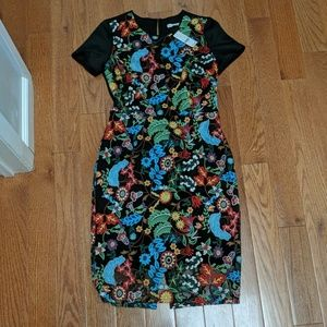 NWT stunning embroidered dress size 0-4